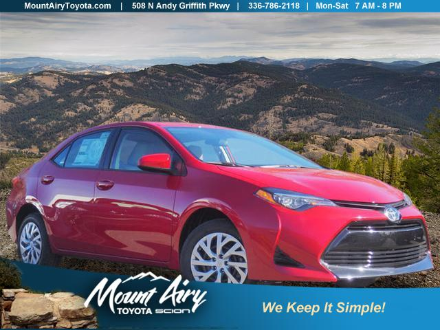 New 2019 Toyota Corolla Le Cvt 4dr Car In Mount Airy T2336 Mount