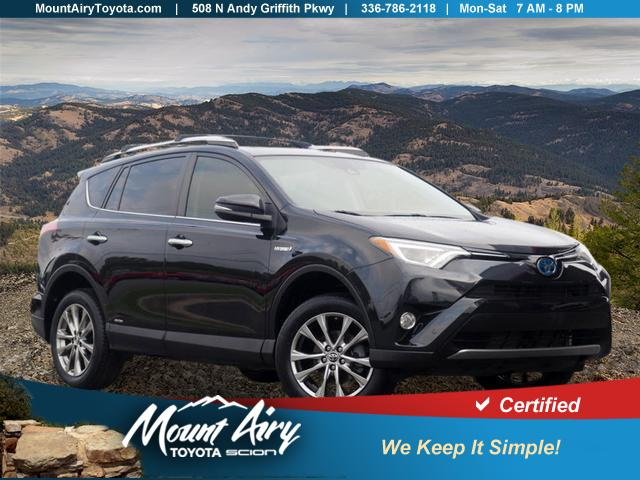 Certified Pre-Owned 2016 Toyota RAV4 Hybrid AWD 4dr Limited