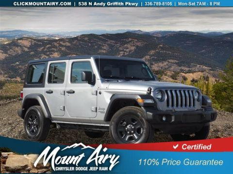 Pre-Owned 2018 Jeep Wrangler Unlimited Sport 4x4