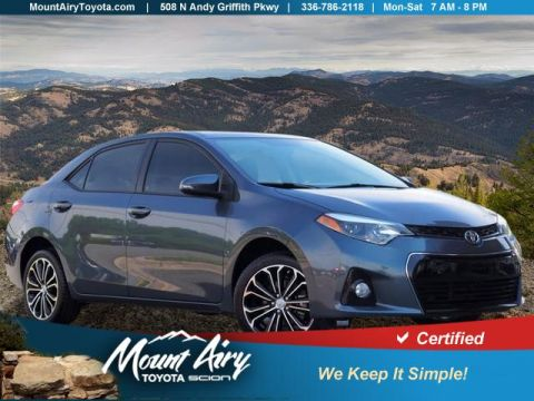Certified Pre-Owned 2016 Toyota Corolla 4dr Sdn CVT S Premium